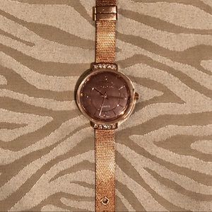 TAHARI rosegold and quartz watch new with box